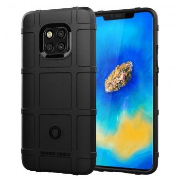 "Kryt TPU gel ""Square Grid"" pro Huawei Mate 20 Pro - černý"