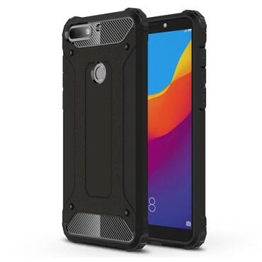 """Robustní kryt """"Rock"""" pro Huawei Y7 Prime 2018 / Y7 2018 - černé"""
