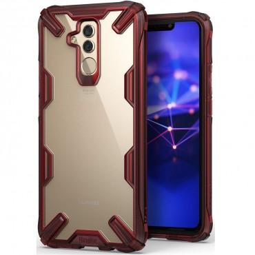 """Obal Ringke """"Fusion X"""" pro Huawei Mate 20 Lite - rubínově červený"""