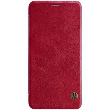 """Elegantní kryt """"Qin"""" pro Samsung Galaxy A7 2018 - červený"""