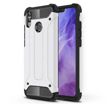 """Robustní obal """"Rock"""" pro Huawei Honor 8X - bílý"""