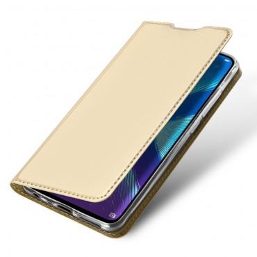 """Módní kryt z umělé kůže """"Skin"""" pro Huawei Honor 8X - zlaté barvy"""