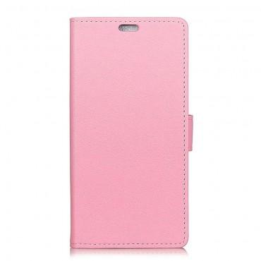 """Elegantní pouzdro """"Litchi"""" pro Huawei Honor 8X - růžové"""