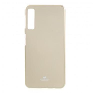 Kryt TPU gel Goospery iJelly Case pro Samsung Galaxy A7 2018 - zlatý