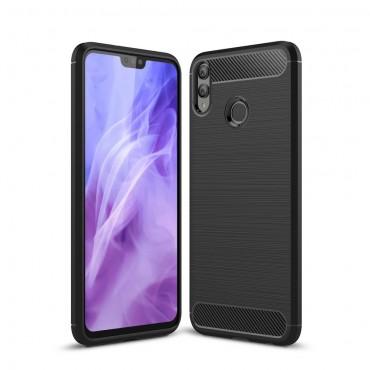 """TPU gelový obal """"Brushed Carbon"""" pro Huawei Honor 8X - černý"""