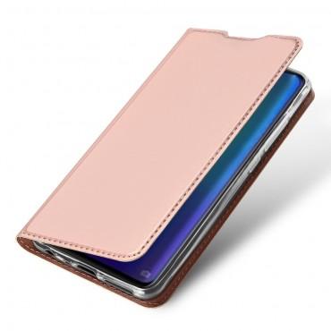 """Módní kryt z umělé kůže """"Skin"""" pro Huawei P30 - růžový"""