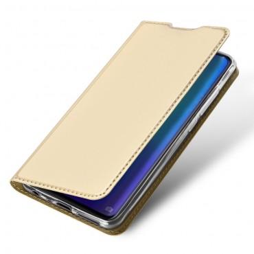 """Módní kryt z umělé kůže """"Skin"""" pro Huawei P30 - zlaté barvy"""