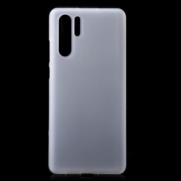 TPU gelový obal pro Huawei P30 Pro - bílý