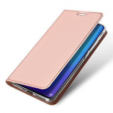 """Módní pouzdro """"Skin"""" pro Huawei P30 Pro z umělé kůže - růžové"""