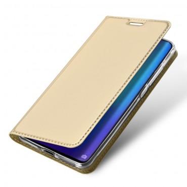 """Módní kryt z umělé kůže """"Skin"""" pro Huawei P30 Pro - zlaté barvy"""