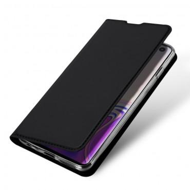 """Módní pouzdro """"Skin"""" pro Samsung Galaxy S10 z umělé kůže - černé"""