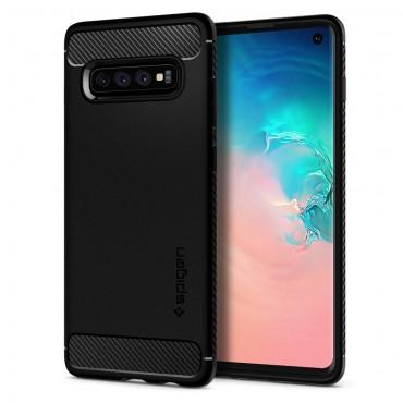 "Obal Spigen ""Rugged Armor"" pro Samsung Galaxy S10 - černý"