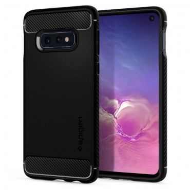 "Kryt Spigen ""Rugged Armor"" pro Samsung Galaxy S10e - black"