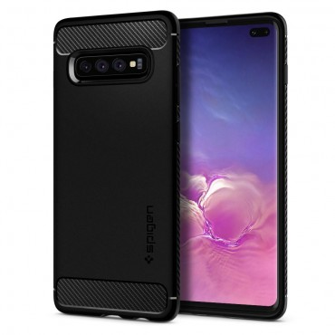 "Kryt Spigen ""Rugged Armor"" pro Samsung Galaxy S10 Plus - black"