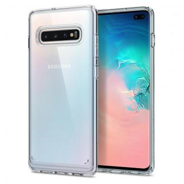 """Obal Spigen """"Ultra Hybrid"""" pro Samsung Galaxy S10 Plus - křišťálově jasný"""