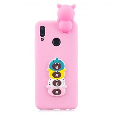 "Kryt TPU gel ""3D Cute Bear"" pro Huawei P Smart 2019"