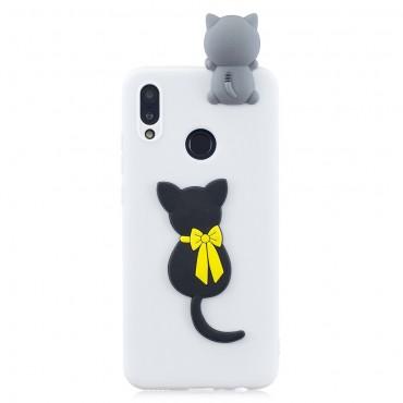 """TPU gelový obal """"3D Cute Cat"""" pro Huawei P Smart 2019"""
