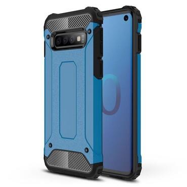 """Robustní kryt """"Rock"""" pro Samsung Galaxy S10 - modrý"""