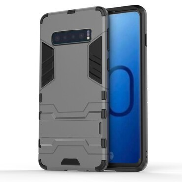 """Robustní kryt """"Impact X"""" pro Samsung Galaxy S10 - šedý"""