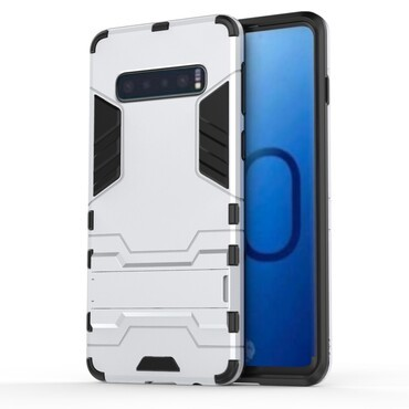 "Robustní kryt ""Impact X"" pro Samsung Galaxy S10 - stříbrné barvy"