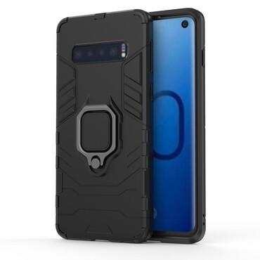 """Robustní obal """"Impact X Ring"""" pro Samsung Galaxy S10 - černý"""