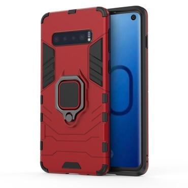 """Robustní kryt """"Impact X Ring"""" pro Samsung Galaxy S10 - červené"""