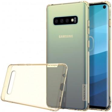 """Premium tenký kryt """"Nature"""" pro Samsung Galaxy S10 - zlatý"""
