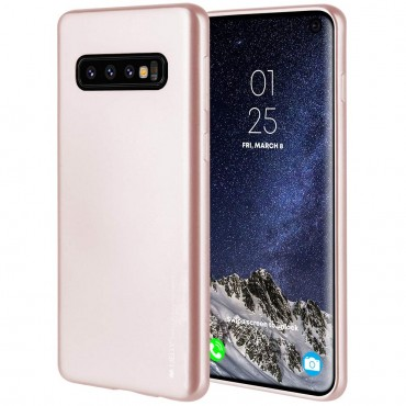 Kryt TPU gel Goospery iJelly Case pro Samsung Galaxy S10 - růžový