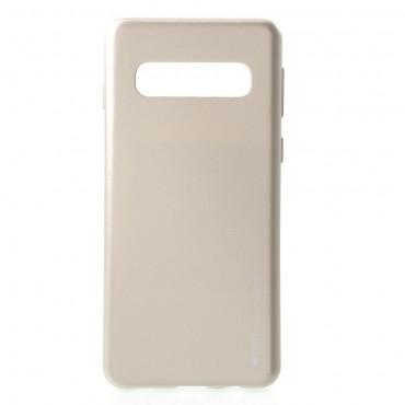 Kryt TPU gel Goospery iJelly Case pro Samsung Galaxy S10 - zlatý