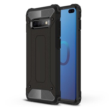 """Robustní obal """"Rock"""" pro Samsung Galaxy S10 Plus - černý"""