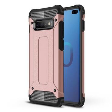 """Robustní obal """"Rock"""" pro Samsung Galaxy S10 Plus - růžový"""