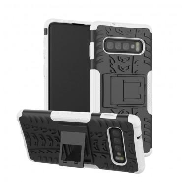 "Hybridní kryt TPU gel ""Tough"" pro Samsung Galaxy S10 Plus - bílý"