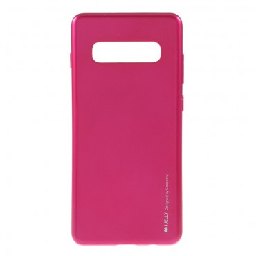 Kryt TPU gel Goospery iJelly Case pro Samsung Galaxy S10 Plus - magenta