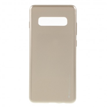 Kryt TPU gel Goospery iJelly Case pro Samsung Galaxy S10 Plus - zlatý