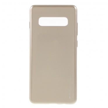 TPU gelový obal Goospery iJelly Case Samsung Galaxy S10 Plus - zlaté barvy