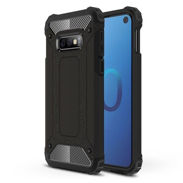 """Robustní kryt """"Rock"""" pro Samsung Galaxy S10e - černé"""
