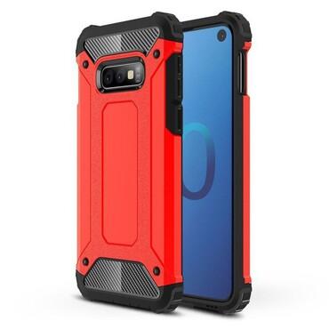"""Robustní kryt """"Rock"""" pro Samsung Galaxy S10e - červené"""