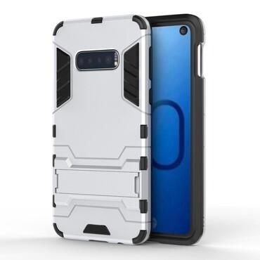 """Robustní kryt """"Impact X"""" pro Samsung Galaxy S10e - stříbrné barvy"""