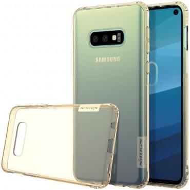 """Premium tenký kryt """"Nature"""" pro Samsung Galaxy S10e - zlatý"""