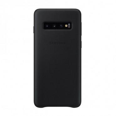"""Originální kožený obal """"Leather Cover"""" pro Samsung Galaxy S10 - černý"""