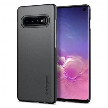 """Kryt Spigen """"Thin Fit"""" pro Samsung Galaxy S10 - gray"""