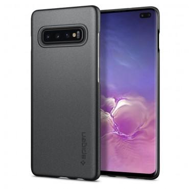 "Obal Spigen ""Thin Fit"" pro Samsung Galaxy S10 Plus - šedý"