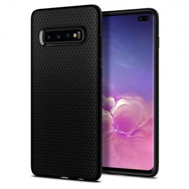 """Kryt Spigen """"Liquid Air"""" pro Samsung Galaxy S10 Plus - matte black"""