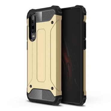 """Robustní kryt """"Rock"""" pro Huawei P30 - zlatý"""