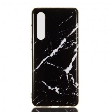 """Módní obal """"Marble"""" pro Huawei P30 - černý"""