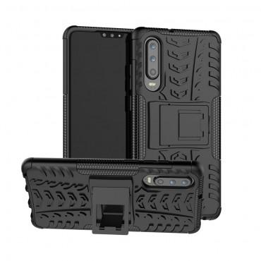 """Hybridní gelový TPU obal """"Tough"""" pro Huawei P30 - černý"""
