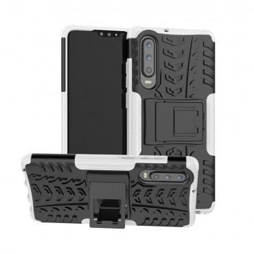 """Hybridní gelový TPU obal """"Tough"""" pro Huawei P30 - bílý"""