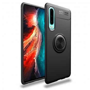 "Kryt TPU gel ""Multi Ring"" pro Huawei P30 - černý"