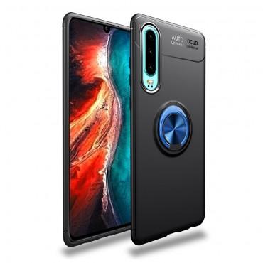 """TPU gelový obal """"Multi Ring"""" pro Huawei P30 - černo-modrý"""