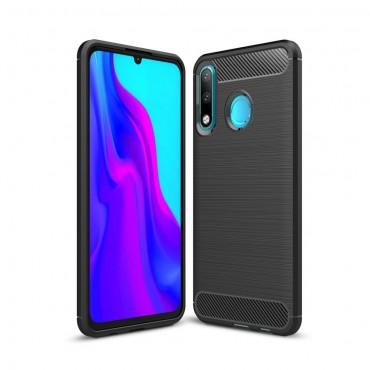 "Kryt TPU gel ""Brushed Carbon"" pro Huawei P30 Lite - černý"